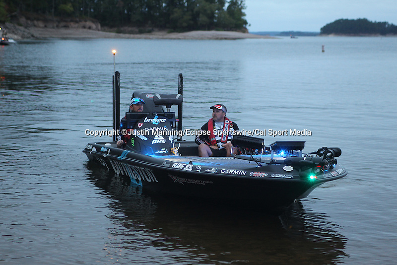 August 21, 2015: Stetson Blaylock before day two of the Forrest Wood Cup on Lake Ouachita in Hot Springs, AR. Justin Manning/ESW/CSM