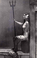 BNPS.co.uk (01202 558833)<br /> Pic: Dukes/BNPS<br /> <br /> The naked 'artists' had to remain stock still...<br /> <br /> 'If it moves, its rude' risque routines that escaped censure in the 1950's revealed in photo album from the legendary Windmill Theatre.<br /> <br /> Racy photos of scantily clad women performing at an iconic theatre have been unearthed which reveal that post-war London was not quite as conservative as some would imagine.<br /> <br /> Dancers at the Windmill Theatre in Soho would pose nude as 'living statues' to exploit a quirky legislation loophole permitting them to bare all if stood completely still. <br /> <br /> They were not allowed to move because this would have been a breach of licensing regulations which adopted the position 'if it moves, it's rude'. <br /> <br /> As a result, men from across the globe savoured the delights of the venue in central London, and there would often be fights over front row seats as they battled for the best views.<br /> <br /> The photos will be sold at Duke's Auctioneers of Dorchester on March 21.