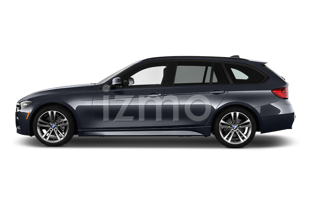 Car Driver side profile view of a 2015 BMW 3 Series 328d xDrive Sports Wagon 5 Door Wagon Side View