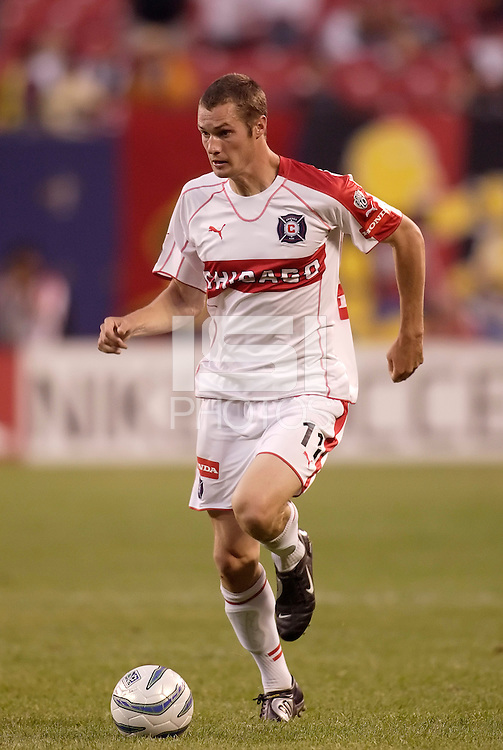 The Fire's Nate Jaqua. The MetroStars defeated the Chicago Fire  2 - 1 at Giant's Stadium, East Rutherford, NJ, on May 31, 2005.