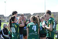 KORFBAL: REDUZUM: Sportpark Reduzum, 28-04-2013, Veld Hoofdklasse A, KV Mid Fryslân-LDODK AH Gorredijk, Eindstand 13-19, Time-out LDODK, ©foto Martin de Jong