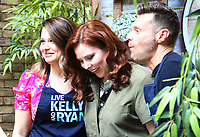 NEW YORK, NY - August 09: Ryan Seacrest, Katie Lowes on the set of Live with Kelly & Ryan outside of ABC studios  in New York City on August 09, 2018 Credit: RW/MediaPunch