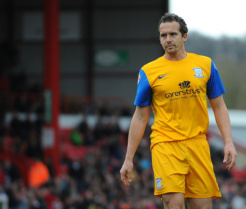 Preston North End's Kevin Davies in action during todays match  <br /> <br /> Photo by Kevin Barnes/CameraSport<br /> <br /> Football - The Football League Sky Bet League One - Bristol City v Preston North End - Saturday 5th April 2014 - Ashton Gate - Bristol<br /> <br /> &copy; CameraSport - 43 Linden Ave. Countesthorpe. Leicester. England. LE8 5PG - Tel: +44 (0) 116 277 4147 - admin@camerasport.com - www.camerasport.com