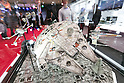 A 1/72 scale plastic model of the Millennium Falcom and other spacecrafts from Star Wars on display at the International Tokyo Toy Show 2016 in Tokyo Big Sight on June 9, 2016, Tokyo, Japan. The annual exhibition showcases some 35,000 toys from 160 toy makers from Japan and overseas. The show runs to June 12th and organisers expect to attract 160,000 visitors. (Photo by Rodrigo Reyes Marin/AFLO)