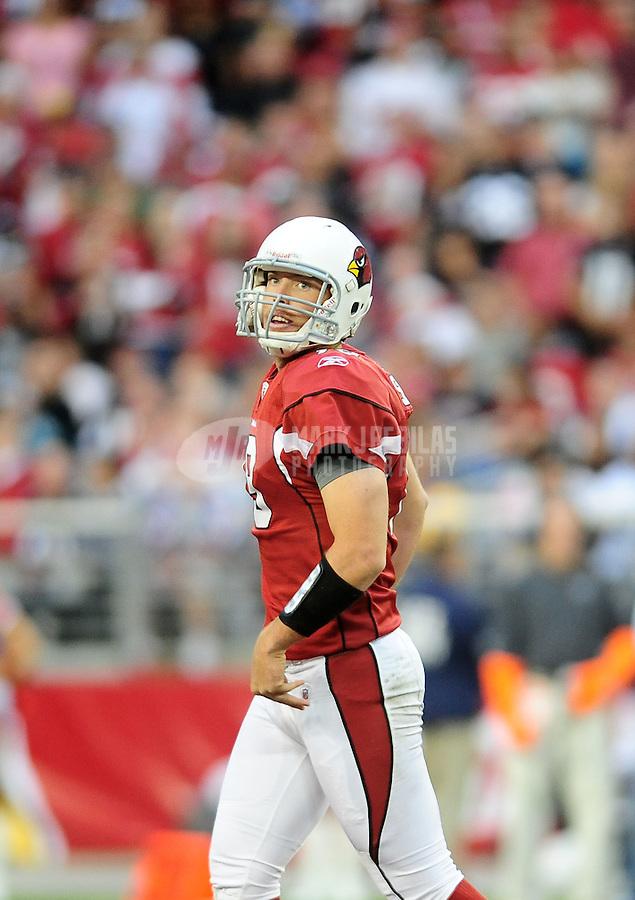 Dec. 5, 2010; Glendale, AZ, USA;  Arizona Cardinals quarterback John Skelton against the St. Louis Rams at University of Phoenix Stadium. The Rams defeated the Cardinals 19-6. Mandatory Credit: Mark J. Rebilas-