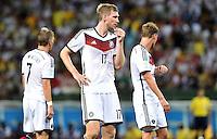 FUSSBALL WM 2014  VORRUNDE    GRUPPE G     Deutschland - Ghana                 21.06.2014 Bastian Schweinsteiger, Per Mertesacker und Benedikt Hoewedes (v.l., alle Deutschland)