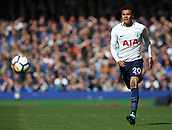 9th September 2017, Goodison Park, Liverpool, England; EPL Premier League Football, Everton versus Tottenham; Dele Alli of Tottenham races forward after a through ball