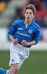 St Johnstone Academy v Manchester United Academy....17.04.15   <br /> Jamie Docherty<br /> Picture by Graeme Hart.<br /> Copyright Perthshire Picture Agency<br /> Tel: 01738 623350  Mobile: 07990 594431