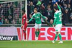 01.12.2018, Weser Stadion, Bremen, GER, 1.FBL, Werder Bremen vs FC Bayern Muenchen, <br /> <br /> DFL REGULATIONS PROHIBIT ANY USE OF PHOTOGRAPHS AS IMAGE SEQUENCES AND/OR QUASI-VIDEO.<br /> <br />  im Bild<br /> <br /> 1 zu 1 durch Yuya Osako (Werder Bremen #08) gegen Manuel Neuer (FC Bayern Muenchen #01) <br /> <br /> jubel<br /> <br /> Foto &copy; nordphoto / Kokenge