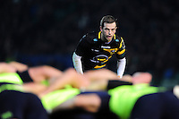 Stephen Myler of Northampton Saints watches a scrum. European Rugby Champions Cup match, between Northampton Saints and Leinster Rugby on December 9, 2016 at Franklin's Gardens in Northampton, England. Photo by: Patrick Khachfe / JMP