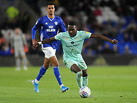 Queens Park Rangers' Bright Osayi-Samuel looks for a way through<br /> <br /> Photographer Ian Cook/CameraSport<br /> <br /> The EFL Sky Bet Championship - Cardiff City v Queens Park Rangers - Wednesday 2nd October 2019  - Cardiff City Stadium - Cardiff<br /> <br /> World Copyright © 2019 CameraSport. All rights reserved. 43 Linden Ave. Countesthorpe. Leicester. England. LE8 5PG - Tel: +44 (0) 116 277 4147 - admin@camerasport.com - www.camerasport.com