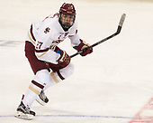 Graham McPhee (BC - 27) - The visiting University of Vermont Catamounts tied the Boston College Eagles 2-2 on Saturday, February 18, 2017, Boston College's senior night at Kelley Rink in Conte Forum in Chestnut Hill, Massachusetts.Vermont and BC tied 2-2 on Saturday, February 18, 2017, Boston College's senior night at Kelley Rink in Conte Forum in Chestnut Hill, Massachusetts.