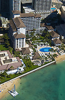 Aerial of  the Halekulani Hotel, Waikiki