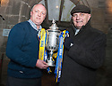 Forfar manager Dick Campbell (right) and Falkirk youth team coach Steve Fulton (left) ahead of their teams Scottish Cup game.