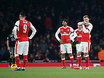 Arsenal's Aaron Ramsey looks on dejected after Southampton's second goal during the EFL Cup match at the Emirates Stadium, London. Picture date October 30th, 2016 Pic David Klein/Sportimage