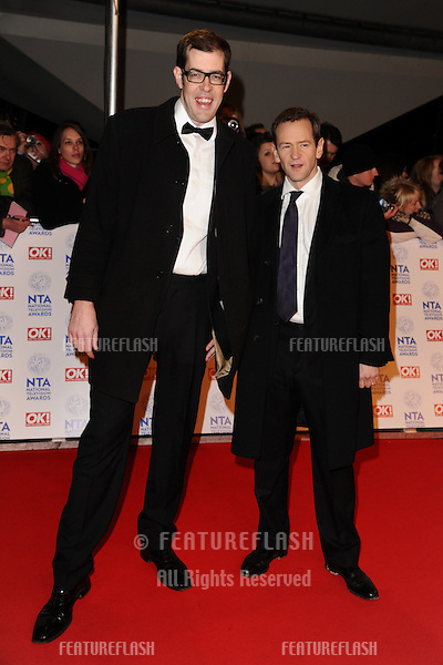Richard Osman and Alexander Armstrong arriving for the National Television Awards 2013, at the O2 Arena, London. 23/01/2013 Picture by: Steve Vas / Featureflash