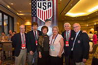 Orlando, FL - Saturday February 10, 2018: Anniversary Dinner Reception, Participants, Ken Conselyea, Marcella Pesorda, Blaz Pesorda during U.S. Soccer's Annual General Meeting (AGM) at the Renaissance Orlando at SeaWorld.