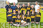 Glenbeigh NS team that played in the Killarney Garda football blitz in Fitzgerald Stadium on Wednesday front row l-r: Luke O'Connor, Brian Griffin. Middle row: Sean Coffey, Padraic McMahon, Patrick Griffin, Sean sheahan, Rian O'Donovan, gearoid griffiin, Tiarna Sheahan. Back row: Garda Paudie Twohig, Garda Declan Kelly,  Liam Smith, Ailbhe Clifford, Rachel Sheahan, Shauna Sheahan and Mary Jo Curran Coach