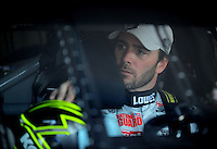 Apr 24, 2009; Talladega, AL, USA; NASCAR Sprint Cup Series driver Jimmie Johnson during practice for the Aarons 499 at Talladega Superspeedway. Mandatory Credit: Mark J. Rebilas-