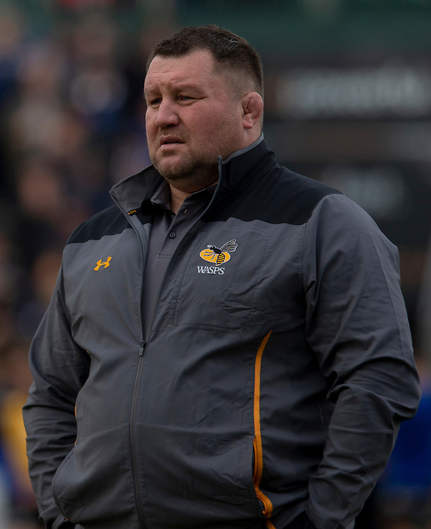 Wasps' Head Coach Dai Young<br /> <br /> Photographer Bob Bradford/CameraSport<br /> <br /> European Rugby Heineken Champions Cup Pool 1 - Bath Rugby v Wasps - Saturday 12th January 2019 - The Recreation Ground - Bath<br /> <br /> World Copyright © 2019 CameraSport. All rights reserved. 43 Linden Ave. Countesthorpe. Leicester. England. LE8 5PG - Tel: +44 (0) 116 277 4147 - admin@camerasport.com - www.camerasport.com