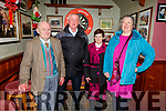 Enjoying the Ballyheigue Senior Citizens party in the White Sands Hotel, Ballyheigue  on Sunday.<br /> L-r, Michael Moloney, Pat and Maisie O&rsquo;Connor and Cathy Lawlor.