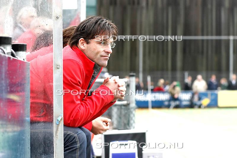 Nederland, Bilthoven, 11 oktober 2009 .Rabo Hoofdklasse.Seizoen 2009/2010.SCHC-Amsterdam (2-2).Spandoek voor Jacques Brinkman trainer-coach van SCHC.