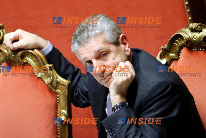 GIAMPAOLO DEI PAOLA.Roma 22/12/2011 Senato. Voto di Fiducia sulla Manovra Economica.Votation at Senate about austerity plan. .Photo Samantha Zucchi Insidefoto
