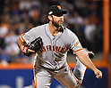 Madison Bumgarner (Giants),<br /> OCTOBER 5, 2016 - MLB :<br /> Madison Bumgarner of the San Francisco Giants pitches in the sixth inning during the National League Wild Card Game against the New York Mets at Citi Field in Flushing, New York, United States. (Photo by Hiroaki Yamaguchi/AFLO)