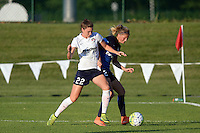 Kansas City, MO - Saturday July 16, 2016: Alyssa Kleiner, Katie Bowen during a regular season National Women's Soccer League (NWSL) match at Swope Soccer Village.