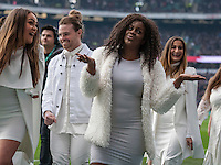 Some of the Urban Voices Collective who performed and led the Anthems, England v Argentina in an Old Mutual Wealth Series, Autumn International match at Twickenham Stadium, London, England, on 26th November 2016. Full Time score 27-14