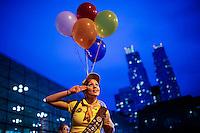 A reveller attends the annual event Comic Con at the Javits center in New York.  09.05.2014. Eduardo Munoz Alvarez/VIEWpress