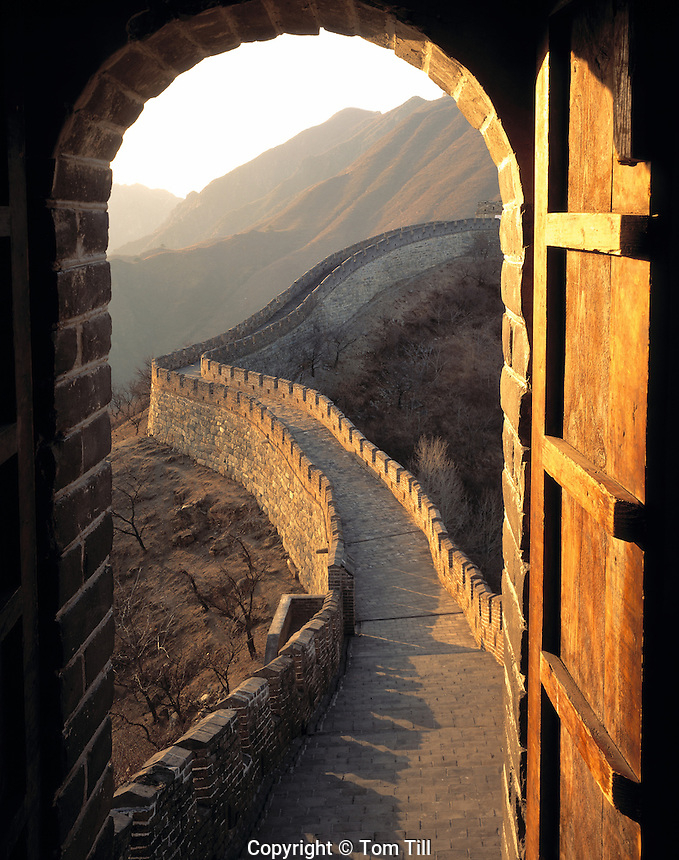 Great Wall of China,  Mutianyu, People's Republic of China Two thousand year odl construction   Begun in Qin Dynasty  Near Beijing