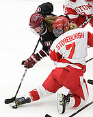 Jillian Dempsey (Harvard - 14), Shannon Stoneburgh (BU - 7) - The Boston University Terriers defeated the visiting Harvard University Crimson 2-1 on Sunday, November 18, 2012, at Walter Brown Arena in Boston, Massachusetts.