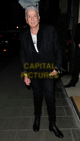 NICKY HASLAM .Attending the 50 Years in Vogue Gala Dinner, Claridge's hotel, London, England, UK, May 11th 2010..full length black suit jacket blazer silver cross necklace white t-shirt .CAP/CAN.©Can Nguyen/Capital Pictures.