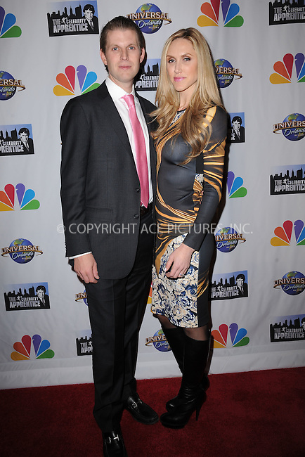 WWW.ACEPIXS.COM<br /> February 16, 2015 New York City<br /> <br /> Eric Trump and Lara Yunaska arriving to the Celebrity Apprentice Finale viewing party and post show red carpet on February 16, 2015 in New York City.<br /> <br /> Please byline: Kristin Callahan/AcePictures<br /> <br /> ACEPIXS.COM<br /> <br /> Tel: (646) 769 0430<br /> e-mail: info@acepixs.com<br /> web: http://www.acepixs.com