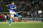 St Johnstone v FC Luzern...24.07.14  Europa League 2nd Round Qualifier<br /> Stevie May scores his penalty<br /> Picture by Graeme Hart.<br /> Copyright Perthshire Picture Agency<br /> Tel: 01738 623350  Mobile: 07990 594431