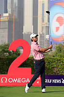 Thomas Aiken (RSA) on the 2nd tee during Round 3 of the Omega Dubai Desert Classic, Emirates Golf Club, Dubai,  United Arab Emirates. 26/01/2019<br /> Picture: Golffile | Thos Caffrey<br /> <br /> <br /> All photo usage must carry mandatory copyright credit (© Golffile | Thos Caffrey)