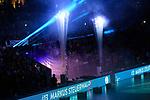 24.02.2019, SAP Arena, Mannheim<br /> Volleyball, DVV-Pokal Finale, VfB Friedrichshafen vs. SVG LŸneburg / Lueneburg<br /> <br /> Feature Einlauf / Teamvorstellung / Pyro - Markus Steuerwald (#13 Friedrichshafen)<br /> <br />   Foto © nordphoto / Kurth