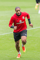 Ashley Williams during Wales training ahead of the World Cup 2018 qualification match against Moldova at Cardiff City Stadium, Cardiff, Wales on 4 September 2016. Photo by Mark  Hawkins / PRiME Media Images.