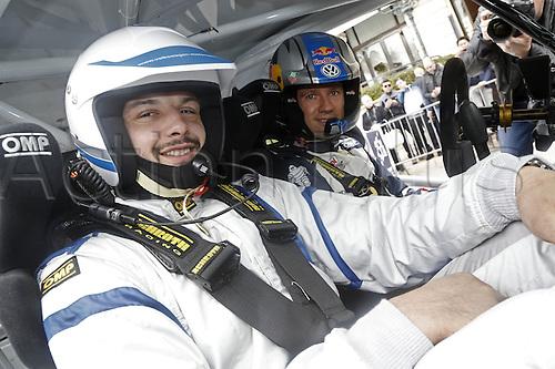 21.01.2016. Monte Carlo, Monaco. The Monte Carlo Rally 2016. The presentation of the cars and drivers in Monaco.  Ogier Sebastien, Volkswagen Motorsport, Volkswagen, Polo R Wrc,with Damien Chouly