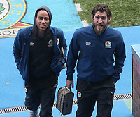 Blackburn Rovers' Danny Graham and Blackburn Rovers' Elliott Bennett arrive at the ground<br /> <br /> Photographer Rachel Holborn/CameraSport<br /> <br /> The EFL Sky Bet League One - Blackburn Rovers v Oldham Athletic - Saturday 10th February 2018 - Ewood Park - Blackburn<br /> <br /> World Copyright &copy; 2018 CameraSport. All rights reserved. 43 Linden Ave. Countesthorpe. Leicester. England. LE8 5PG - Tel: +44 (0) 116 277 4147 - admin@camerasport.com - www.camerasport.com