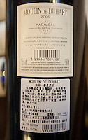 A 1.5 litre bottle of 2009 Lafite Moulin de Duhart Paulliac wine of indeterminate authenticity is seen in a shop selling real and fake wine, Guangzhou, Guangdong Province, China, 18 July 2014.<br /> <br /> PHOTO BY SINOPIX