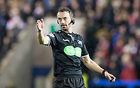 Picture by Allan McKenzie/SWpix.com - 09/03/2018 - Rugby League - Betfred Super League - Warrington Wolves v St Helens - Halliwell Jones Stadium, Warrington, England - James Child, Referee, Specsavers, branding.