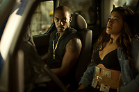 MISS BALA (2019)<br /> Anthony Mackie  and Gina Rodriguez <br /> *Filmstill - Editorial Use Only*<br /> CAP/FB<br /> Image supplied by Capital Pictures