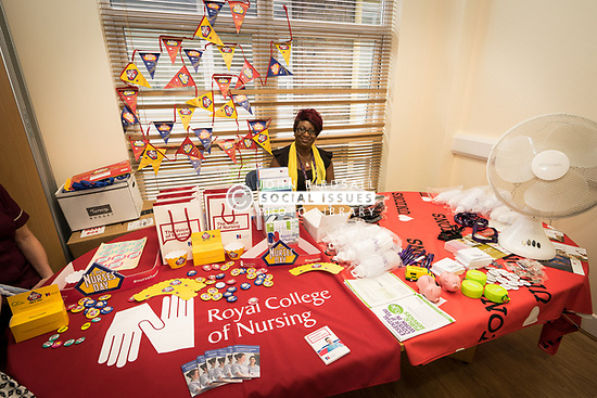 The Princess Alexandra Hospital, Harlow, Nursing & Midwifery Celebration Day - training and information, UK. Royal College of Nursing stand