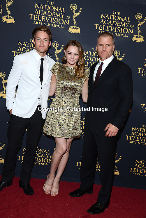 Lachlan Buchhanan, Hunter King and Sean Carrigan attends the Creative Arts Emmy Awards on April 24, 2015 at the Universal l Hilton in Universal City,<br /> California, USA.
