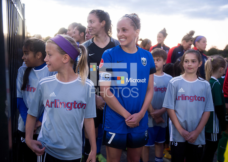Boyds, MD - Saturday September 30, 2017: Elli Reed during a regular season National Women's Soccer League (NWSL) match between the Washington Spirit and the Seattle Reign FC at Maureen Hendricks Field, Maryland SoccerPlex.