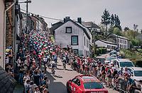 up the C&ocirc;te de Saint-Roche<br /> <br /> 104th Li&egrave;ge - Bastogne - Li&egrave;ge 2018 (1.UWT)<br /> 1 Day Race: Li&egrave;ge - Ans (258km)
