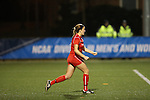 SALEM, VA - DECEMBER 3:Megan Wolf (3) celebrates after scoring the winning penalty kick during theDivision III Women's Soccer Championship held at Kerr Stadium on December 3, 2016 in Salem, Virginia. Washington St Louis defeated Messiah 5-4 in PKs for the national title. (Photo by Kelsey Grant/NCAA Photos)