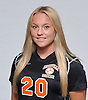 Emily Jonas of Hicksville poses for a portrait during the Newsday 2015 varsity girls' soccer season preview photo shoot at company headquarters on Thursday, September 10, 2015.<br /> <br /> James Escher